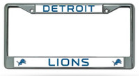 Detroit Lions Rico Industries Chrome Auto License Plate Frame