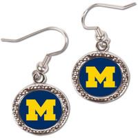 University of Michigan Wincraft Dangle Circle Earrings