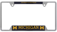 University of Michigan Wincraft Chrome Auto License Plate Frame