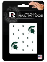 Michigan State University Rico Industries Peel & Stick Nail Tattoos