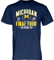 University of Michigan Men's Blue 84 2018 Final Four Tshirt