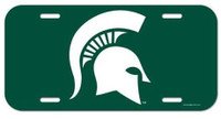 Michigan State University Wincraft Plastic License Plate