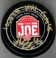 "Henrik Zetterberg Autographed Farewell To The Joe Official Game Puck Inscribed ""1000th NHL Game"""