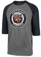 Detroit Tigers Men's 47 Brand Slate Gray Imprint Club Raglan