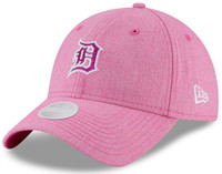 Detroit Tigers Women's New Era Pink 2018 Mother's Day Team Glisten 9TWENTY Adjustable Hat