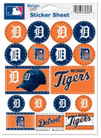 "Detroit Tigers Wincraft 5""x 7"" Vinyl Sticker Sheet"