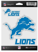 Detroit Lions Rico Set of 3 Die Cut Decals Stickers Triple Spirit Wordmark