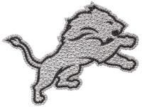 Detroit Lions Team ProMark Bling Emblem Car Decal