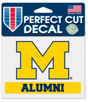 "University of Michigan Wincraft ""Alumni"" Perfect Cut 4""x5"" Decal"