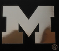 "University of Michigan Rico 4""x5"" Chrome Window Graphic"