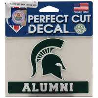 "Michigan State University Wincraft ""Alumni"" Perfect Cut 4""x5"" Decal"