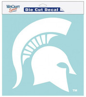 "Michigan State University Wincraft Perfect Cut 8""x8"" White Decal"