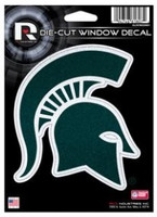 "Michigan State University  Rico 4""x5"" Glitter Die-Cut Window Decal"