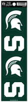 Michigan State University Rico Quad Decal Set of 4