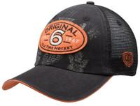 Old Time Hockey Men's Original 6 Black Cartago Mesh Back Adjustable Hat