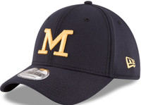 "University of Michigan Men's New Era 39Thirty Navy Blue Classic ""Harbaugh"" Flex Hat"