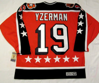 "Steve Yzerman Autographed 1984 Campbell ""All Star"" CCM Vintage Throwback Jersey - HOF 09 Inscription (Pre-Order)"