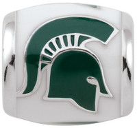 Michigan State University Teagan Collection by persona Green Spartan Head /White Charm