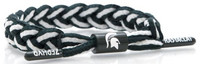 Michigan State University Rastaclat Green & White Braided Shoelace Bracelet
