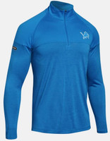 Detroit Lions Men's Under Armour NFL Combine Authentic Tec Twist ¼ Zip Longsleeve