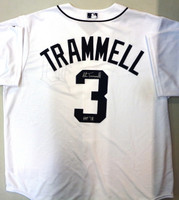 "Alan Trammell Autographed Detroit Tigers Jersey Inscribed with ""HOF 18"""