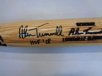 "Alan Trammell Autographed Game Model Louisville Slugger Bat Inscribed ""HOF 18"""