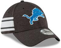 Detroit Lions Men's New Era Black 2018 NFL Sideline Home Official 39THIRTY Flex Hat