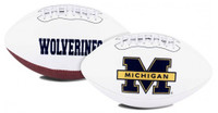 University of Michigan Rawlings Full Size Embroidered Signature Series Football