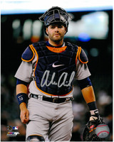 Alex Avila Autographed Detroit Tigers 8x10 Photo #7 - Mask Up
