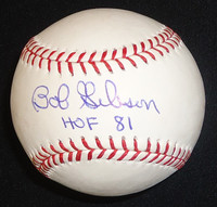 "Bob Gibson Autographed Baseball - Official Major League Ball inscribed ""HOF 81"""