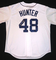 Torii Hunter Autographed Detroit Tigers Home Jersey