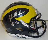 Denard Robinson Autographed Michigan Wolverines Mini Helmet (Speed)