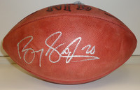 Barry Sanders Autographed Official NFL Football (Vintage Tagliabue Ball)