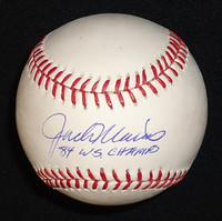 "Jack Morris Autographed Baseball - Official Major League Ball Inscribed ""84 WS Champs"""