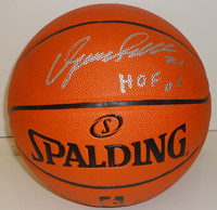 "Dominique Wilkins Autographed Basketball - Spalding I/O with ""HOF 06"""