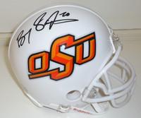 Barry Sanders Autographed OSU Mini Helmet