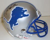 Barry Sanders Autographed Detroit Lions Mini Helmet