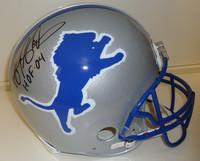 """Barry Sanders Autographed Detroit Lions Pro Line Helmet with """"HOF 04"""""""