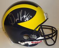 Denard Robinson Autographed Michigan Wolverines Full Size Pro Line Helmet