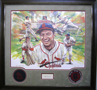 Stan Musial Framed & Autographed Lithograph (Artist Proof)