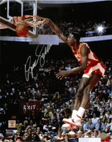 Dominique Wilkins Autographed Atlanta Hawks 16x20 Photo #2 - 1988 Dunk Contest Finals