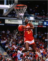 Dominique Wilkins Autographed Atlanta Hawks 16x20 Photo #3 - High Above The Rim