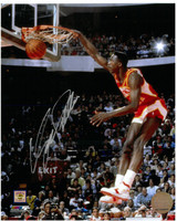 Dominique Wilkins Autographed Atlanta Hawks 8x10 Photo #2 - 1988 Dunk Contest Finals
