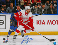Henrik Zetterberg Autographed Detroit Red Wings 16x20 Photo #4 - 2013 Road