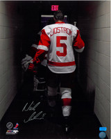 Nicklas Lidstrom Autographed 16x20 Photo #5 - Walking Off The Ice