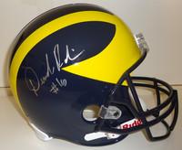 Denard Robinson Autographed Michigan Wolverines Full Size Deluxe Replica Helmet