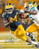 Denard Robinson Autographed Michigan Wolverines 16x20 Photo #2 - Under the Lights