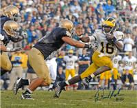 Denard Robinson Autographed Michigan Wolverines 16x20 Photo #3 - 502 Yards Against Notre Dame