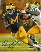 Denard Robinson Autographed Michigan Wolverines 8x10 Photo #2 - Under the Lights