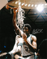 Magic Johnson Autographed MSU Spartans 16x20 Photo #2 - Cutting Down The Net